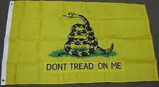 YELLOW GADSDEN DON'T TREAD ON ME FLAG TEA PARTY NYLON EMBROIDERED 3X5 FEET F723