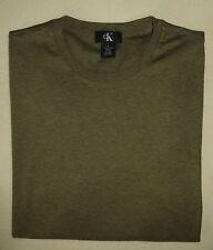 Men's NWOT CALVIN KLEIN 100% Cotton Ranger Green Short Sleeve Crewneck T-Shirt L