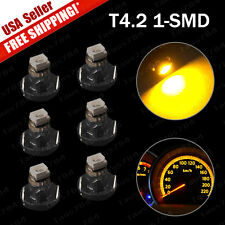 6X T4 T4.2 Neo Wedge Cluster Instrument Dash Climate LED Amber Yellow Lights US
