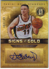 DETLEF SCHREMPF 2011-12 PANINI GOLD STANDARD SIGNS OF GOLD #084/149