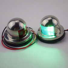 One Pair 12V Stainless Steel LED Bow Navigation Lights Red & Green Lower price