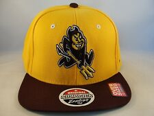 NCAA ASU Sun Devils Zephyr OVERSIZED Snapback Hat Cap Size 8 and Bigger
