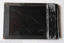 """3.25 x 4.25"""" Sheet Film Holder with Darkslides - Baco Hollywood Wood - USED M39"""