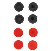 8 Pcs Black Red Foam Ear Cushions Sponge Earpads for Earbuds Headphone Earphone