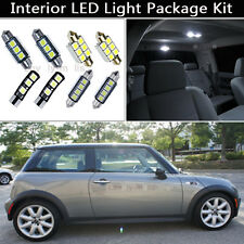 7PCS Canbus White LED Interior Lights Package kit Fit 2002-2005 Mini Cooper J1
