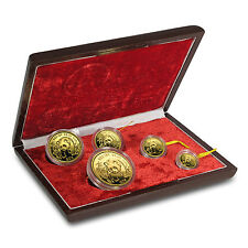 1986 China 5-Coin Gold Panda Proof Set (w/Box, no COA) - SKU #96670