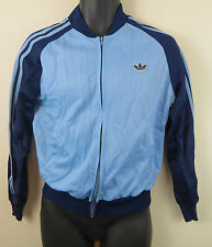 Adidas Track Top Tracksuit Blue Retro Vtg 80s Vintage Jacket Mens 42 S Small