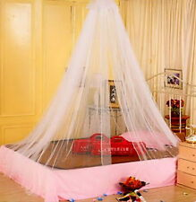 Elegant Round Lace Insect Bed Canopy Netting Curtain Dome Mosquito Net White HY