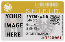 Agents of SHIELD ID Badge Card - Customizable Dual Sided Prop ID w/ Hologram