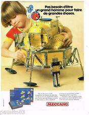 PUBLICITE ADVERTISING 095  1980  MECCANO  jeux jouets