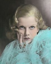 JEAN HARLOW RED HEADED WOMAN 1932 HOLLYWOOD ACTRESS 8x10 HAND COLOR TINTED PHOTO