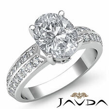 Glistening Oval Diamond Engagement Ring GIA I VS2 Clarity 14k White Gold 1.3 ct