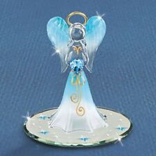 Glass Baron ~ Heavenly Blue Angel with Blue Crystal ~ Great Gift ~  New in Box