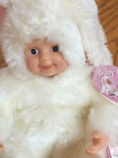 "1997 ANNE GEDDES baby bunnies 6"" BUNNY collector DOLL  LN with TAGS"