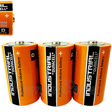 3 x Duracell D Size batteries Industrial Procell Alkaline LR20 MN1300 MONO 1.5V