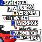 Nummernschild Kennzeichen Aufkleber Rutscher Bobby Go Kett Tretauto Kart Car