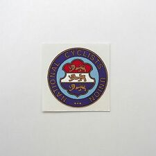 Vintage, 1883 - 1959 'National Cyclists Union' Frame Decal Reproduction