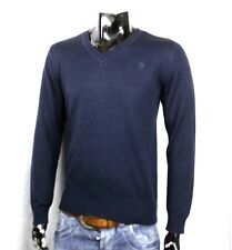 G-STAR RAW NEW YARD KNIT LUXUS V-NECK STRICK PULLOVER BLAU DESIGNER NEU L