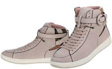 NEW BURBERRY FOLKINGTON CURRENT LEATHER HOUSECHECK HIGH TOP SNEAKERS SHOES 38