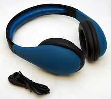 iFrogz CODA Over the Ear Headphones BLUE Stereo Audio Soft Touch MP3 Phone Wired