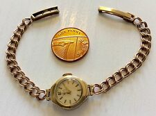 Lovely Ladies Vintage 9ct Gold ( All Solid Gold ) Verity Bracelet Watch Working
