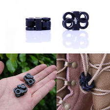2x Sports Shoelaces Buckle Outdoor Camping Stopper Rope Clamp Buckle Cord Lock*