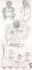 "VINTAGE 10"" NEW DELTOR ANTIQUE  BABY DOLL CLOTHES PATTERN 444"