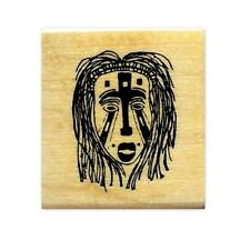 AFRICAN TRIBAL MASK Mounted rubber stamp #17