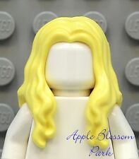 NEW Lego Girl Minifig Long BLONDE HAIR Pirate Female Yellow Minifigure Head Gear