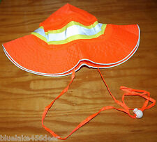 Booney Hat Orange Reflective Boonie Hat IronWear Size LG-XL Work Hunting Fishing