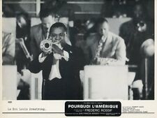 LOUIS AMSTRONG POURQUOI L AMERIQUE FREDERIC ROSSIF 1969 VINTAGE LOBBY CARD #5