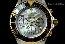 Invicta 47mm GRAND DIVER Chronograph TwoTone Gold Tone Platinum MOP Dial Watch
