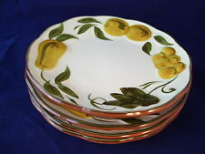 Stangl Sculptured Fruit 4 Bread 'n Butter Plates Dessert Vintage Retro USA HP