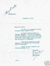 Bing Crosby Film Actor Singer Vintage  1947 Hand signed Letter with Photograph
