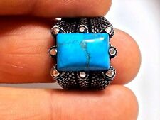 Claw Turquoise Stone 925 K Sterling Silver Mens Ring All size