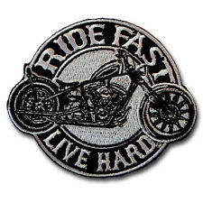 Rider Fast Live Hard Patch Iron on Biker Harley Racing Sew Rider Motorcycle Vest