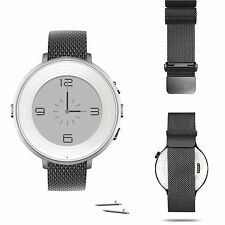 Pebble Time Round Watch Band, 20mm Magnetic Milanese Loop Stainless Steel Straps