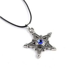 Anime Black Rock Shooter Logo Metal Pentagram Necklace Cosplay Pendant