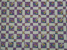 Unfinished Quilt Top  - Lavender Tinkerbell and  Fairies, approx 63.5 x 76