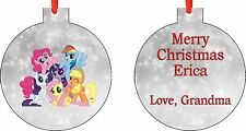 Personalized My Little Pony Ornament ( Add Any Message You Want)