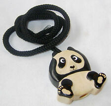 NEW QUALITY WOODEN HAND CRAFTED LIGHT PULL CORD HANDLE PANDA