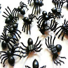 100X NEW Plastic Black Spider Trick Toy Party Halloween Haunted House Prop Decor