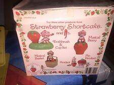 1981 STRAWBERRY SHORTCAKE VANITY SET COMPLETE WITH BOX