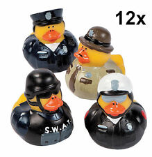 12 Law Enforcement Rubber Ducks - Swat Police Sheriff Trooper Duckies Ducky NEW