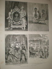 Burma Ex King Theebaw and wife Soopya Glay 1886 prints rf BW