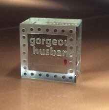 Spaceform Gorgeous Husband Glass Token Romantic Love Gifts for Him Men 1356