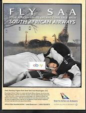 SOUTH AFRICAN AIRWAYS DAILY NONSTOP FROM NEW YORK TO DAKAR-JOHANNESBURG AD