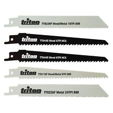 Triton Recip Saw Blade Mixed Set 5 Blades fits Bosch, DeWalt, Makita many more