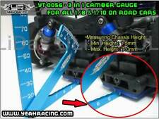 Yeah Racing 3 in 1 Camber Gauge Metal For all 1:8 1:10 On Road RC Car BLUE
