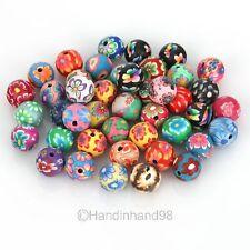 60Pcs Perles Rond Fleur Coloré 12MM Diamètre Accessoire Pour DIY Bijoux Collier